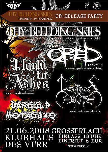 Thy Bleeding Skies Release Party